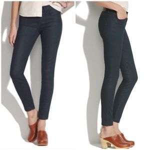 Madewell Skinny Ankle Coated Blue Jeans 27